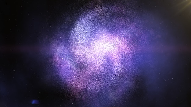 Skręcona galaktyka spiralna w kosmosie. gwiazdy kosmos czarna dziura