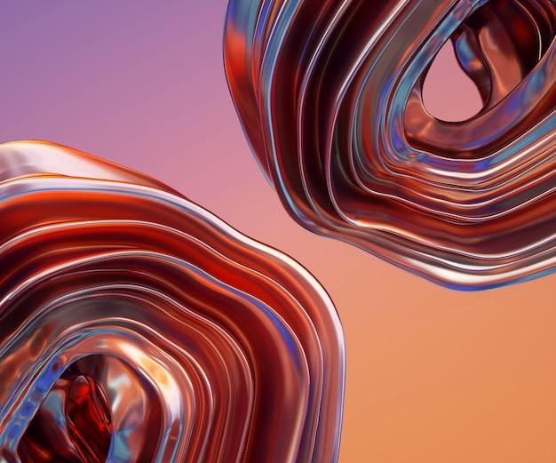 Skręcone kształty renderowania 3d
