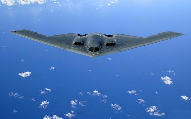 Skrzydła delta bombowiec samolot stealth