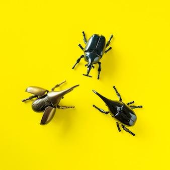 Skrzydlaty przedmiot z owadów chrząszcza