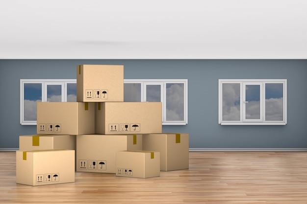 Skrzynia ładunkowa do pokoju. ilustracja 3d