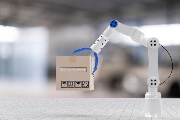 Skrzynia ładunkowa do transportu inspekcyjnego z ręczną maszyną robota ai