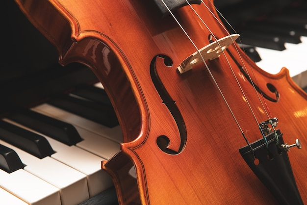 Skrzypce I Fortepian. Muzyka Klasyczna. Premium Zdjęcia
