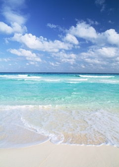 Sky and sea aqua blue