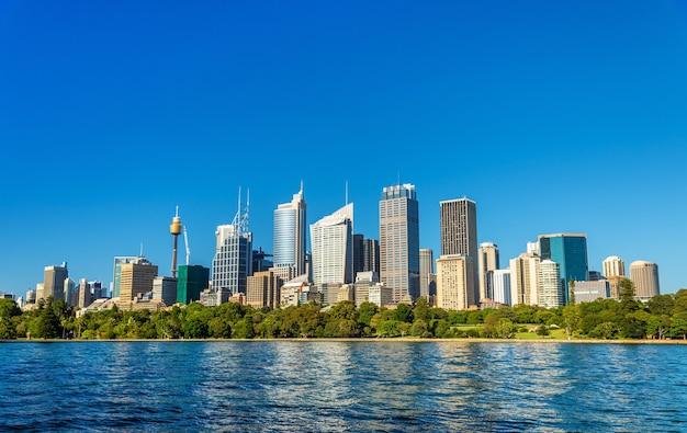 Skyline centralnej dzielnicy biznesowej sydney - australia, nowa południowa walia