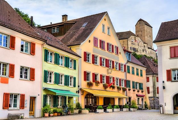 Skyline of sargans, miasto w kantonie st. gallen w szwajcarii