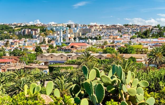 Skyline of tipaza, miasto w algierii w afryce północnej