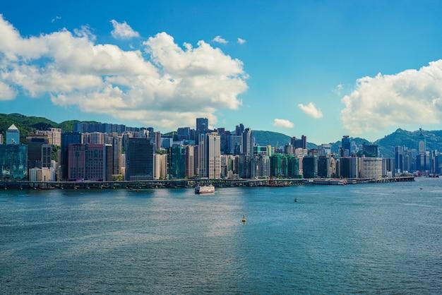 Skyscape hong kong city.