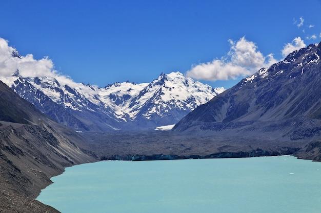 Śledzenie na lodowcu tasman, nowa zelandia,