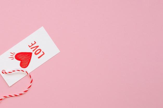 Śliczna miłości etykietka z kopii przestrzenią