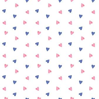 Śliczne serca wzór minimalistyczny wzór serca