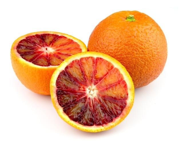 Słodki i sok pomarańczowy czerwony zbliżenie