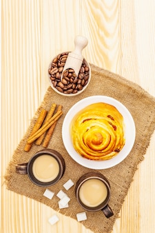 Słodki kawowy gorący jesień napoju pojęcie