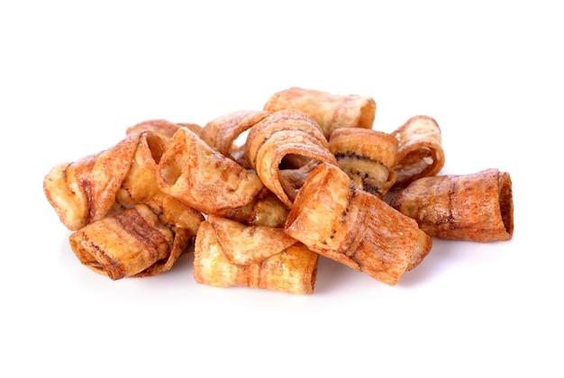 Słodkie chipsy bananowe, tajska przekąska