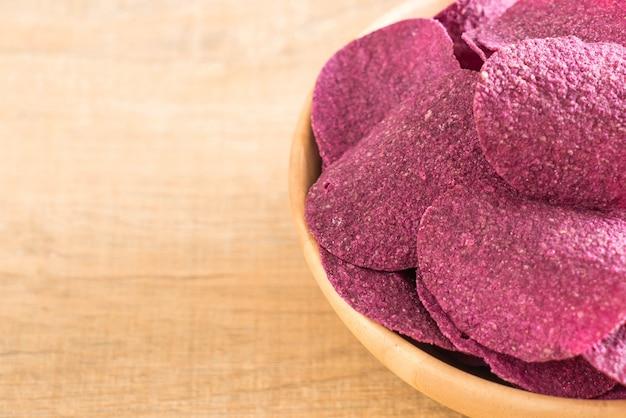 Słodkie chipsy ziemniaczane