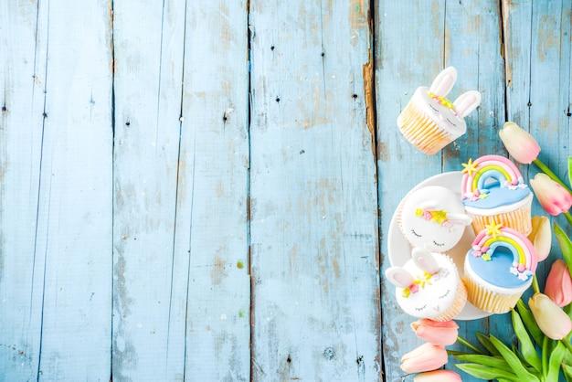 Słodkie domowe babeczki wielkanocne