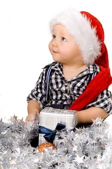 Słodkie dziecko w boże narodzenie
