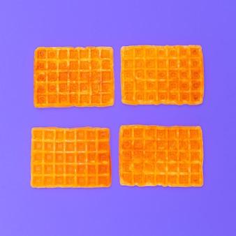 Słodkie gofry. minimalistyczny design