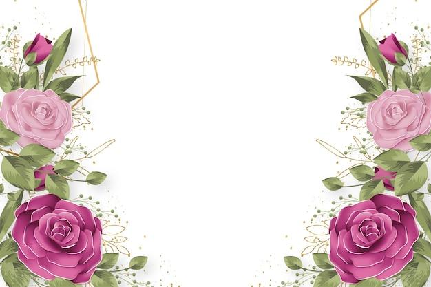 Słodkie tło natury z kwiatami idealne dla canva
