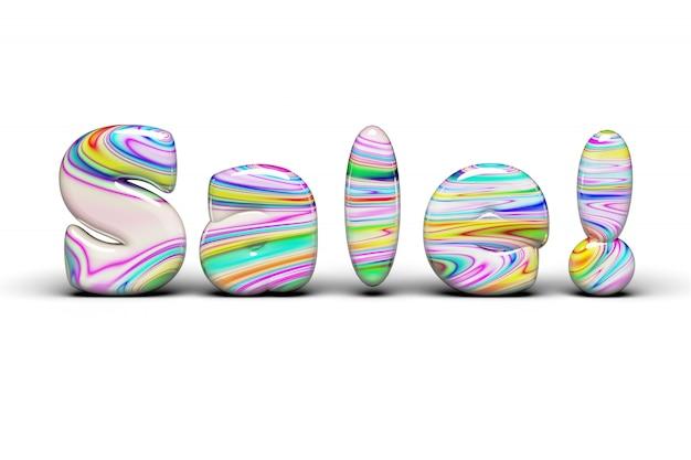 Słodycze barwiący rabata sprzedaży słowo na bielu odizolowywającym
