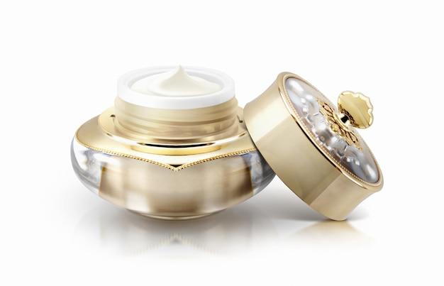 Słoik kosmetyczny z pojedynczą złotą koroną