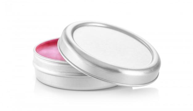 Słoik z balsamem aluminiowym na produkt kosmetyczny