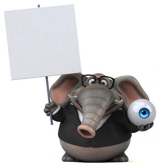 Słoń zabawa - 3d ilustracji