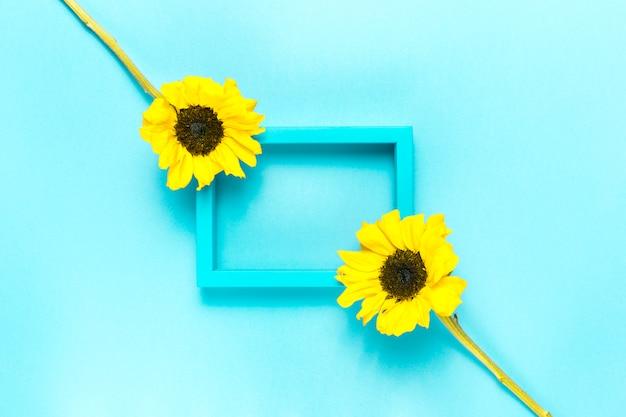 Słoneczniki i ramka