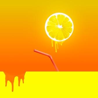 Słoneczny dzień na plaży - obraz koncepcyjny