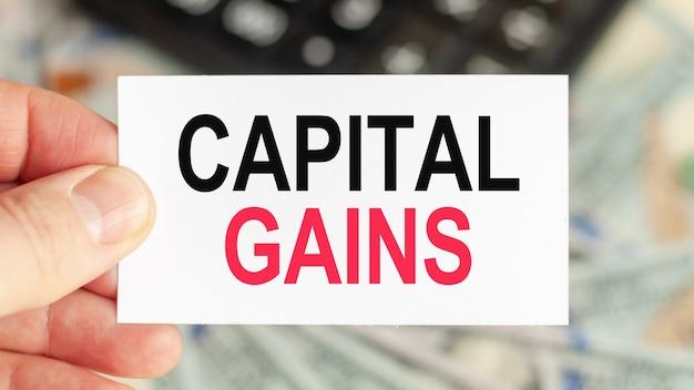 Słowa motywacyjne: zysky kapitałowe