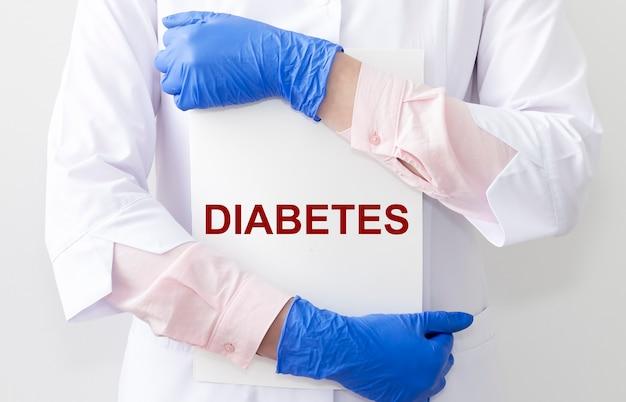 Słowo cukrzyca, napis. choroba zdrowia z hiperglikemią. pojęcie medyczne