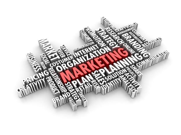 Słowo marketingowe w chmurze
