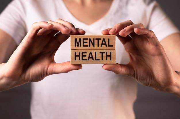 Słowo napis zdrowia psychicznego