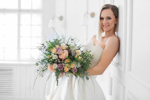 Ślub. piękna panna młoda w sukni ślubnej