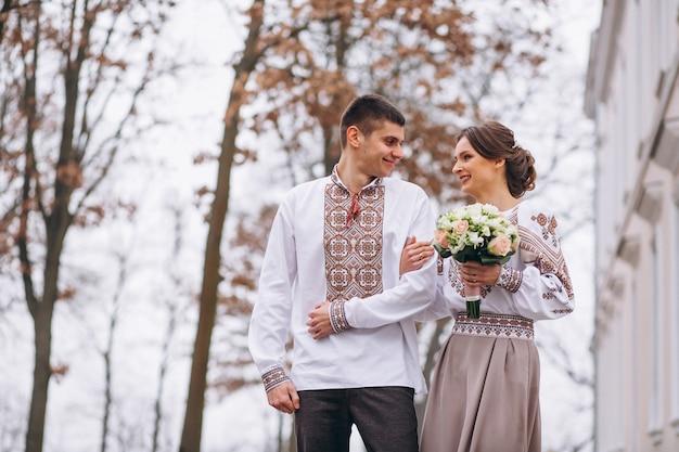 Ślub zaręczyny para