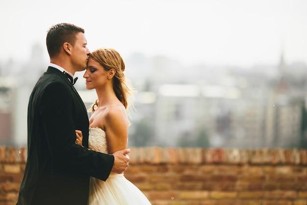 Ślubna para plenerowa