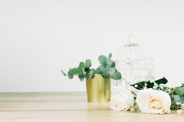 Ślubne białe róże