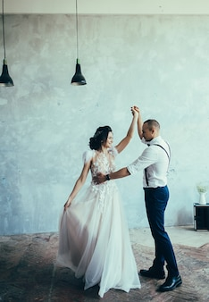 Ślubny para taniec