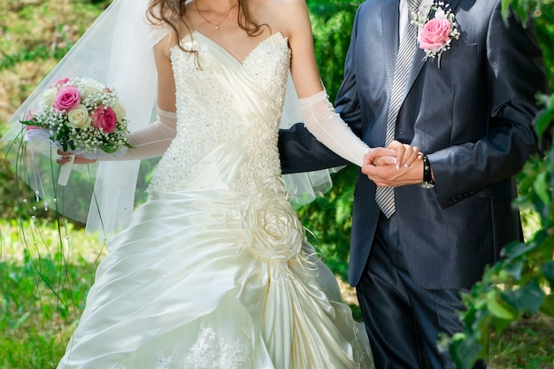 Ślubny wizerunek panny młodej i pana młodego