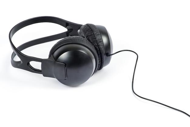 Słuchawki na białym tle