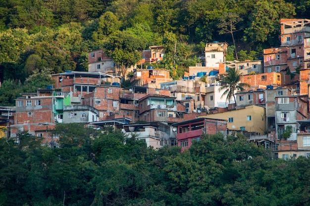 Slumsy tabajara w rio de janeiro w brazylii.