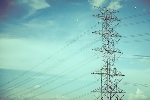 Słup energii elektrycznej
