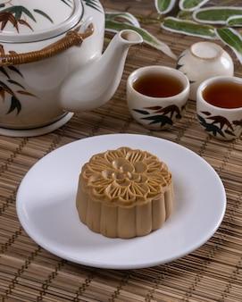 Słynne chińskie jedzenie - mooncakes, czyli chińskie wypieki tradycyjnie spożywane podczas święta środka jesieni