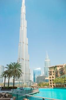 Słynny widok w dubaju w zjednoczonych emiratach arabskich