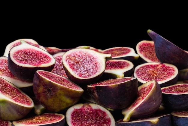 Smaczne figi widok z góry plasterki