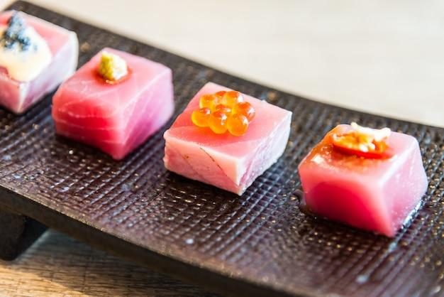 Smaczne surowego tuńczyka