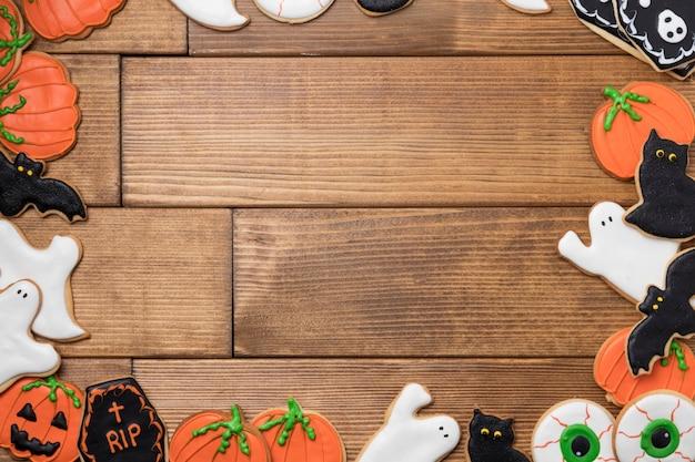 Smakołyki na halloween party frame