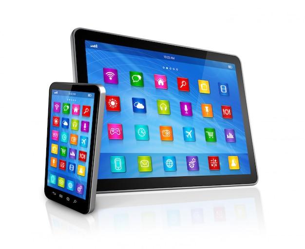 Smartfon i komputer typu tablet cyfrowy