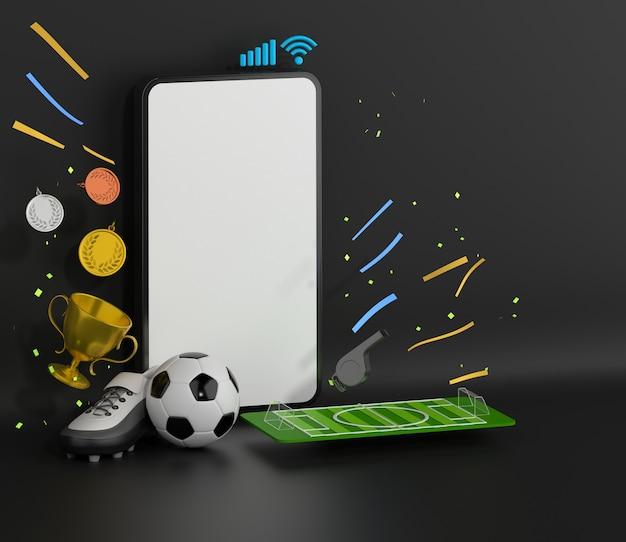 Smartfon z obiektem sportowym