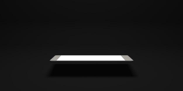 Smartfon z pustym ekranem płaskie tło ilustracja 3d